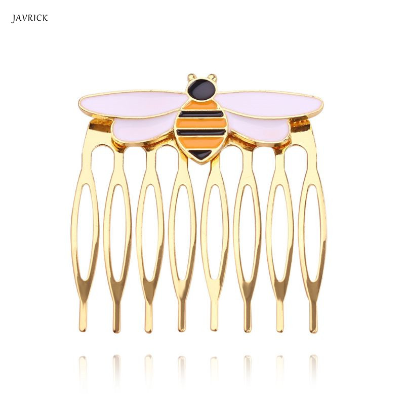 Women hairpins miraculous bee comb gold hair comb ladybug party supplies animal enamel hair jewelry costume|Hair Jewelry|   - AliExpress