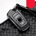 Глянцевое углеродное волокно  АБС-пластик  Автомобильный ключ чехол Fob чехол для BMW 520 525 f30 f10 F18 118i 320i 1 3 5 7 серия X3 X4 M3 M4 M5 E34 E90 E60