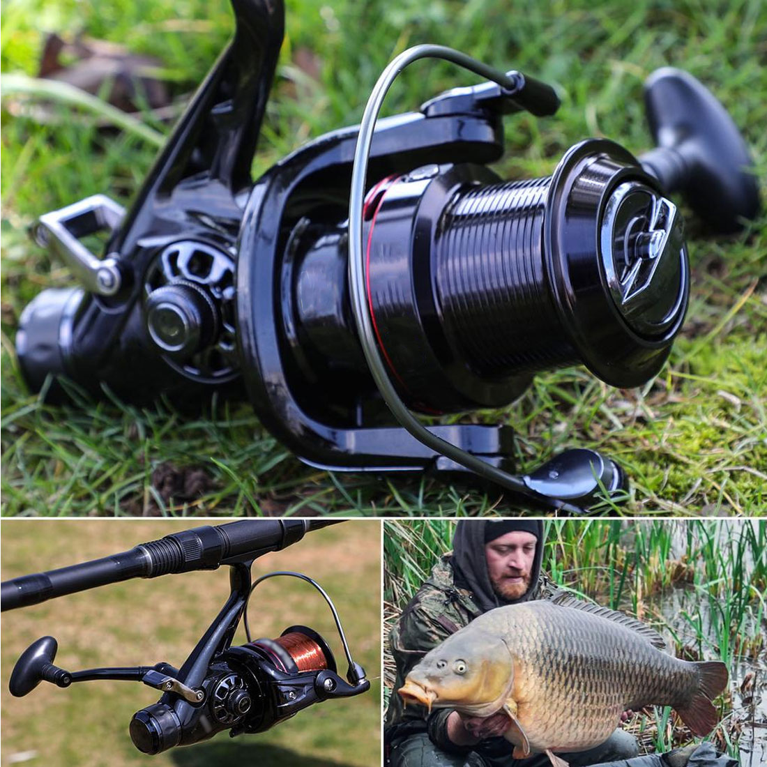 Professional Fishing Wheel 12 BB Series 5.1:1 3000-7000 Speed Spinning Fishing Reel Interchanged Left/right Hand Wheel
