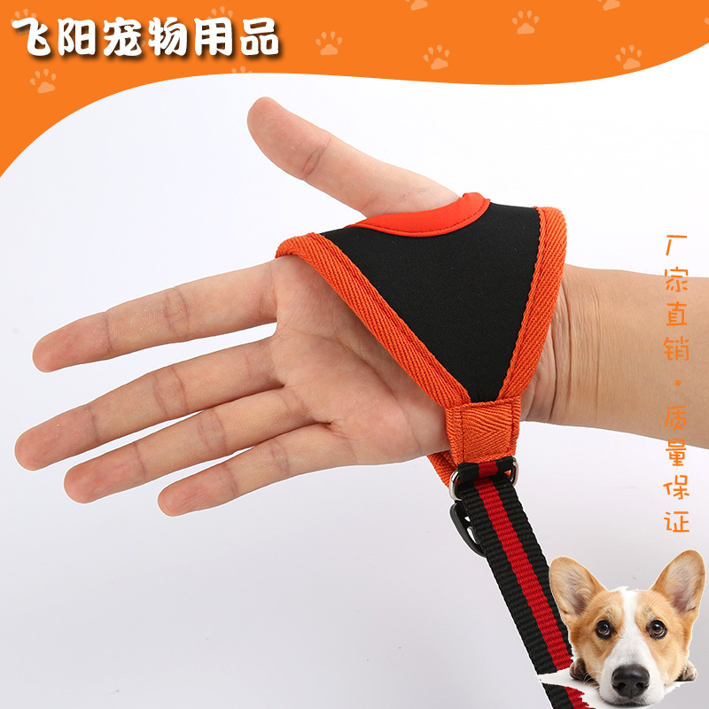 Pet Dog Training Hand Holding Rope Running Gloves Nylon Material Traction Dog Leash Proof Punch Traction Belt