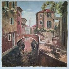 Venetian Motif Impression landscape decorative painting Art Oil Painting on Canvas Handpaint