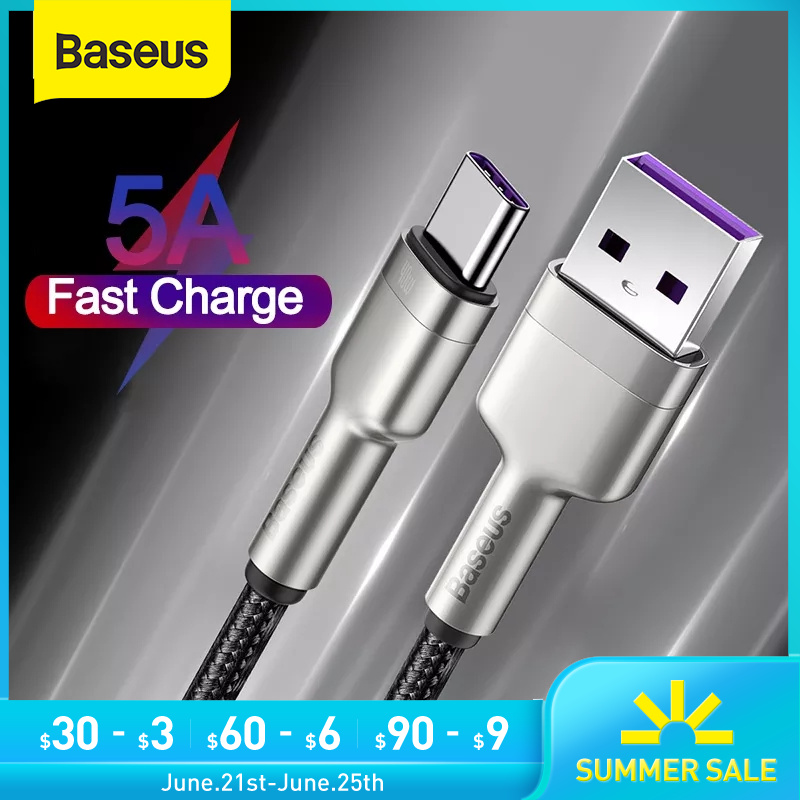 Baseus 40W USB Typ C Kabel für Huawei P40 P40 Pro 5A Schnelle Ladung Typ-C Handy lade Draht USB C Kabel Daten USB C Kabel