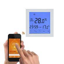 WiFi inteligentny termostat programowalne ogrzewanie elektryczne ogrzewanie podłogowe termostat regulator temperatury elektryczne ogrzewanie podłogowe System tanie tanio CN (pochodzenie) WIFI thermostat Flame-Retardant PC + ABS Square ±0 5°C 0 3W AC200~240V 50 60Hz 16A (Electric Heating)