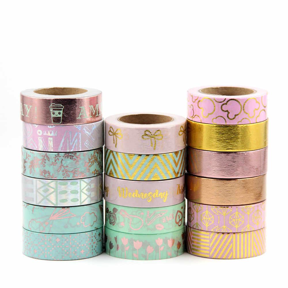 Rainbow Chevron Washi Tape Decorative Paper Masking Tape Colorful Arrows 10m