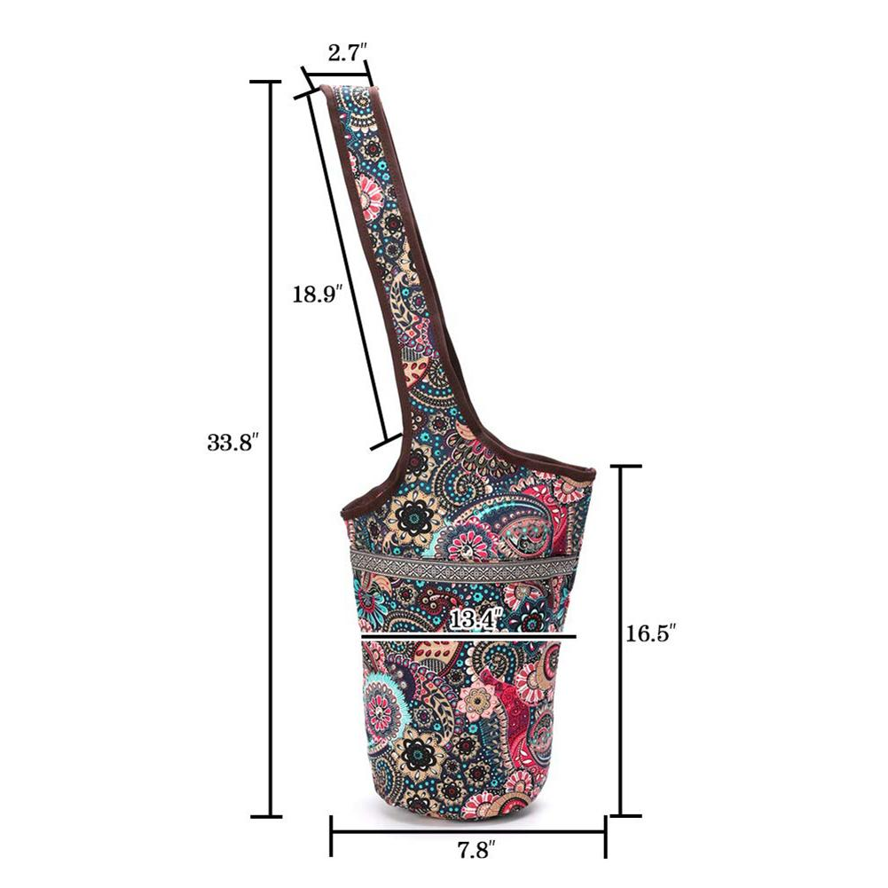 Fashion Yoga Mat Bag Canvas Yoga Bag Large Size Zipper Pocket Fit Most Size Mats Yoga Mat Tote Sling Carrier Fitness Supplies