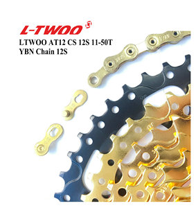 Image 4 - LTWOO Groupset AT12 Speed Shifter Lever Rear Derailleur Cassette 11 50T 52T, 12S YBN 18A Chain, EAGLE GX / M9100, Golden
