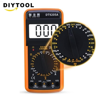Digital Multimeter DT9205a Electric Handheld Multimeter Voltmeter Ammeter AC DC OHM Volt Tester Test Current Multimeter dt 17n handheld digital multimeter lcd backlight manual portable auto range ad dc voltmeter ammeter ohm voltage test multimeter