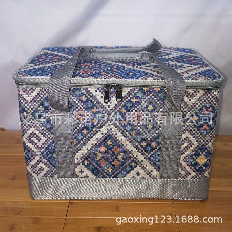 Снаряжение для пикника на открытом воздухе, ящик для хранения инструментов в этническом стиле, многофункциональная отделочная коробка
