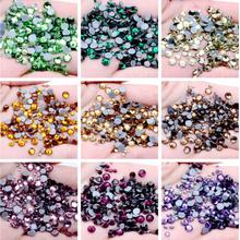 43 color ss10 ss12 ss16 Hot Fix Rhinestone Crystal Super Glitter Strass Iron On Rhinestones For Fabric Garment