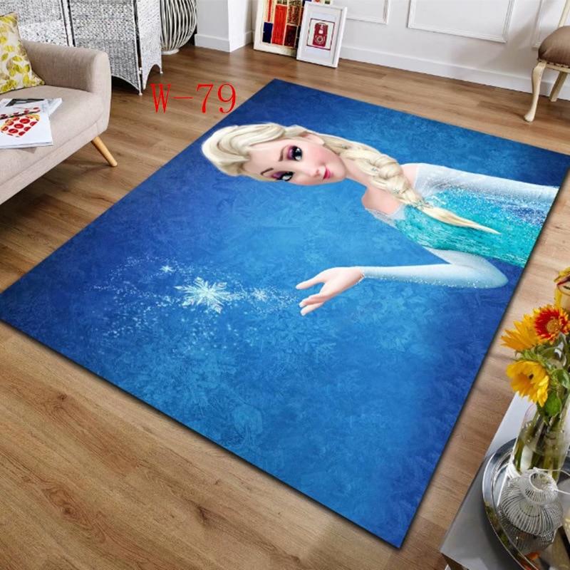 Disney Frozen Soft Carpets For Living Room Bedroom Anti-slip Floor Mats Bedroom Water Absorption Carpet Rugs Door Mat Outdoor
