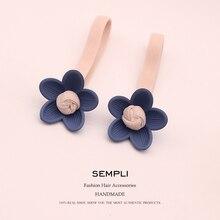 2 Pieces 6 Colors High Elasticity Elastic Hair Bands Headbands Lotus Petal For Women band Scrunchie Accesorios