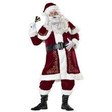 Cosdaddy natal papai noel cosplay traje conjunto completo festa de natal traje