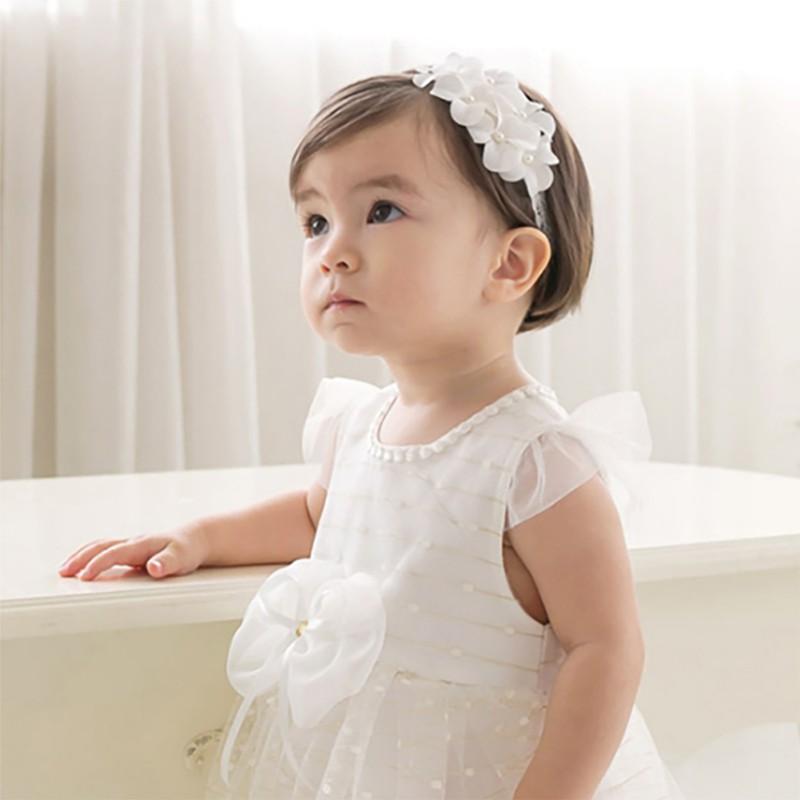 2020 Casual Fashion Baby Girl Headband Childrens Cute Headwear Hair Yarn Flower  Hair Band Princess Hairband  Tiaras