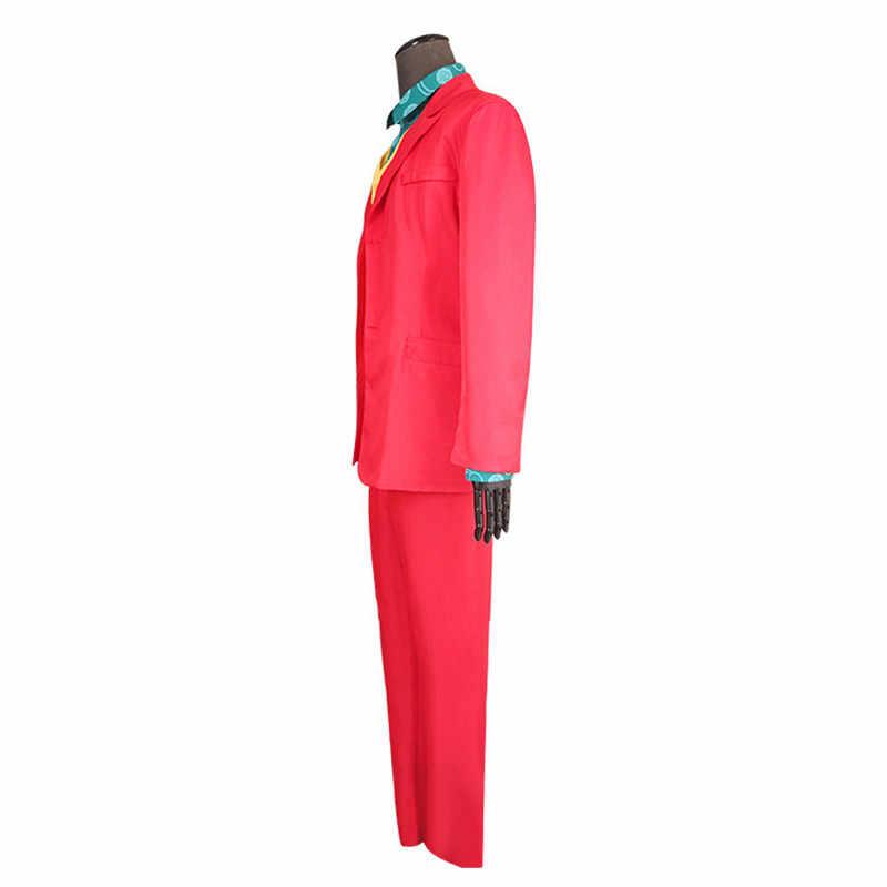 2019 סרט ג 'וקר קוספליי חואקין פיניקס ליצן בגדי ארתור פלק תלבושות אדום חליפת ליל כל הקדושים את ג' וקר מעיל באטמן אחיד