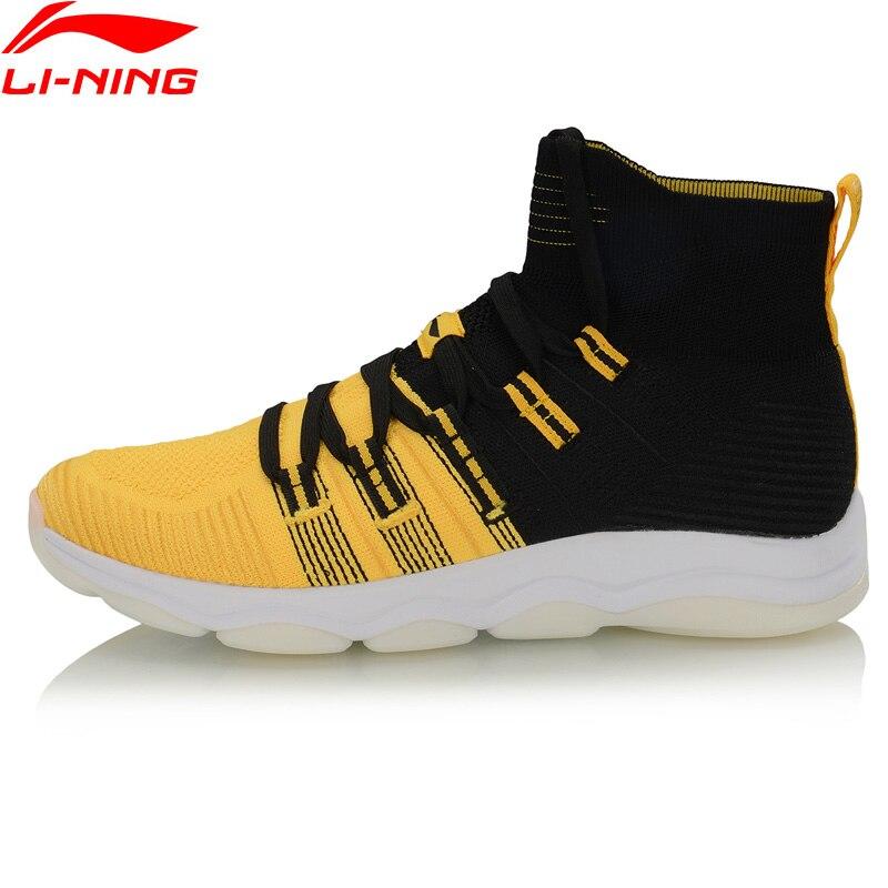 Li-Ning Men NO BOUNDARIES Cushion Training Shoes Mono Yarn Breathable High-Cut LiNing Sport Shoes Sneakers AFJP027 YXX064 33