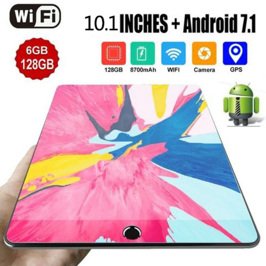 10.1 Inch Ten Core 6G+16G/64G/128G Android 8.0 WiFi Tablet PC Dual SIM Dual Camera Rear 5.0MP IPS 4G Call Phone Tablet Gifts