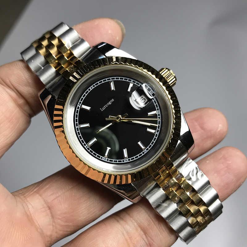 Biała tarcza unisex 36mm Glide gładka drugi zegarek ręczny luminous automatyczny zegarek rolex klamra składane AAA wysokiej jakości zegarki