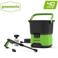 GREENWORKS 5104507 GDC40 Портативная Беспроводная электрическая мойка высокого давления 650 Вт 40 в многофункциональная зеленая мойка для автомобиля ло...