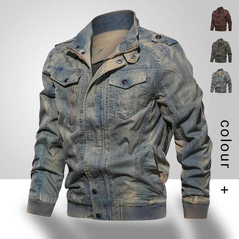 2020 Lente Herfst Nieuwe Mannen Denim Jas Merk Casual Pilot Bomber Jassen Heren Jeans Jacket Mannelijke Retro Mode Bovenkleding Jas man
