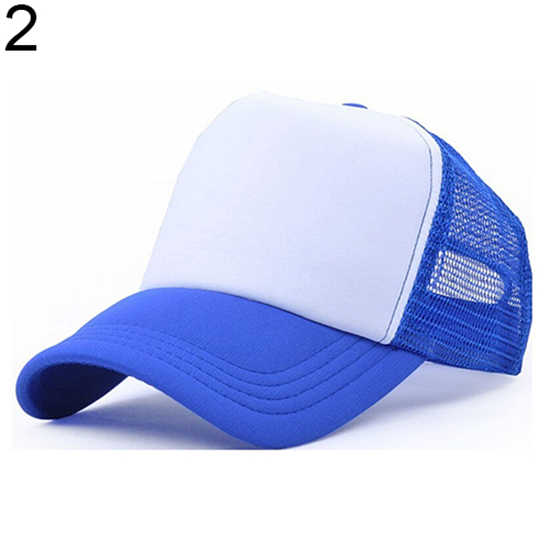 Fashion Unisex Sun Visor Lampu Papan Bersih Topi Truk Topi Iklan Trucker Bisbol Golf Yang Dapat Disesuaikan Topi
