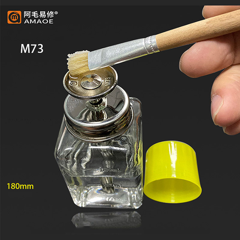 180ML Glass/Plastic Alcohol Bottle Washboard Water Bottle Antistatic Metal Core Cleaning Tool For Mobile Phone Repair