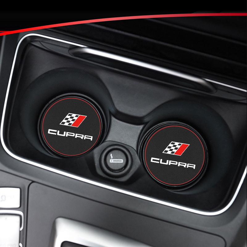 1pcs Car Non-slip Mat Case Water Coaster Pad For Seat Cupra Leon Ibiza Altea Tarraco Mii Alhambra Car Accessories