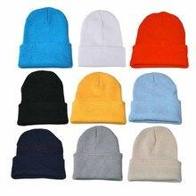 Hats Beanie Slouchy Winter Skullcap Hip-Hop-Cap Soft Women Knitted-Cap Ski-Hat Blends