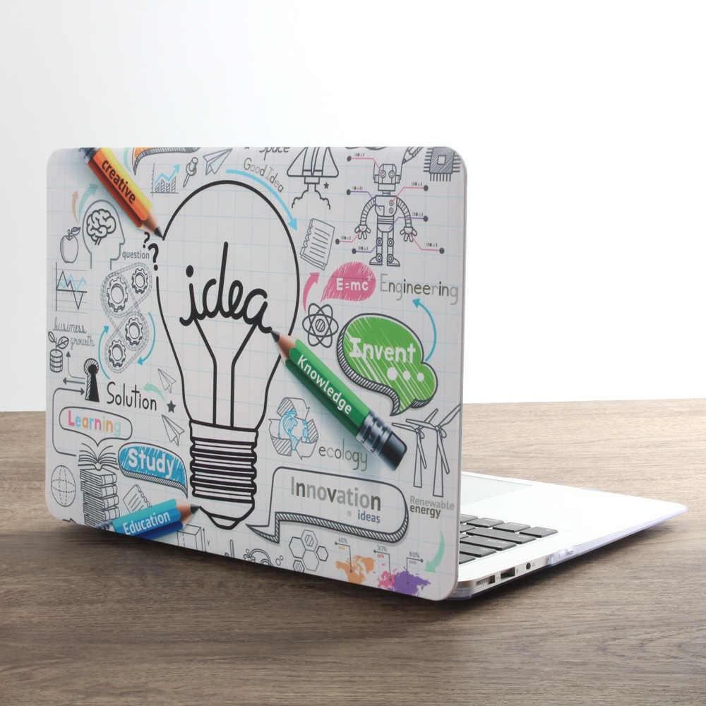 Nouvelle Impression Personnalité Ordinateur Portable étui pour macbook Air Pro Retina 11 12 13 15 pouces avec Touch Bar + Couverture de Clavier