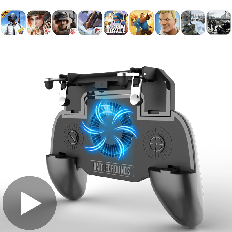 Game Pad Mobile L1 R1 Joystick for iPhone Android Smartphone Cell Phone Gamepad ON Joypad Trigger PUBG PABG PUPG Pabga Free Fire(China)