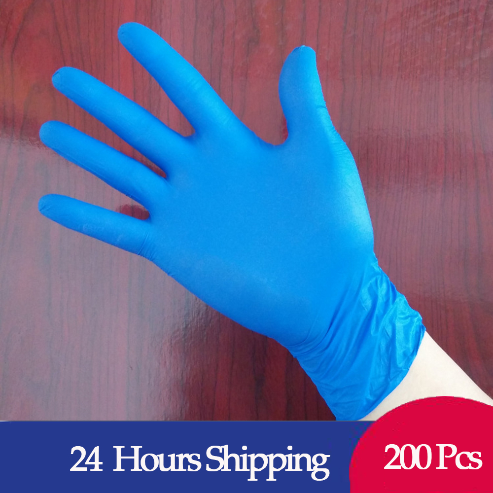 In Stock Fast Ship 100Pcs/Box PVC Disposable Colored Examination Nitrile Glove For Examination Powder-free Disposable Gloves