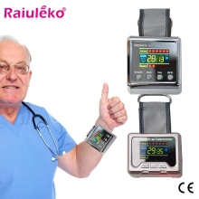 Бытовые здоровые лазерные физиотерапевтические часы для лечения гипертонии, диабета, холестерина, тромбоза головного мозга инструмент для лечения ринита