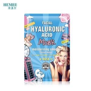 Image 4 - HEMEIEL Hyaluronic Acid Moisturizing Korean Face Mask Collagen Sheet Mask Acne Treatment Facial Mask Skin Care Korean Cosmetics