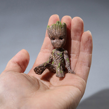 цена на Marvel  Guardians Of The Galaxy 2 Groot Grout Sitting Collectible Anime Toy PVC Cartoon Mini Action Figure Doll Toys Model