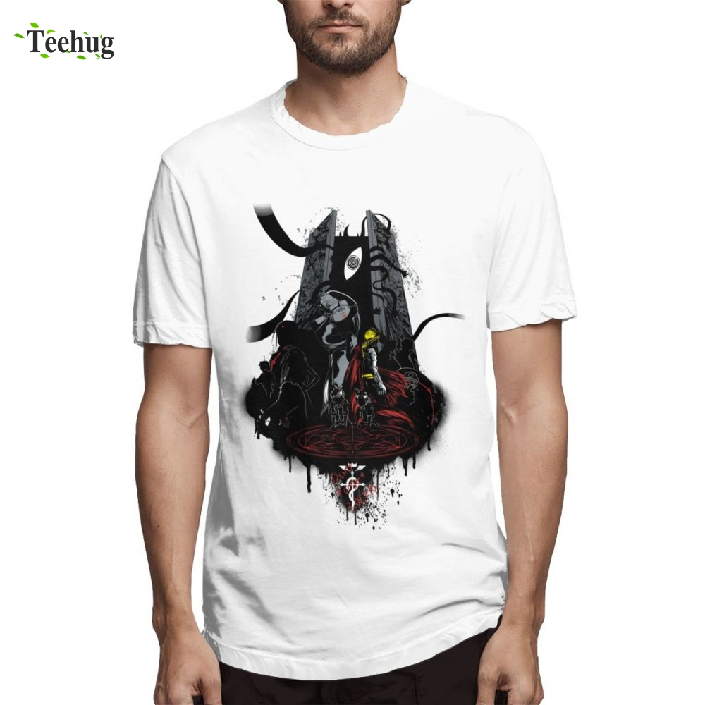 Fullmetal Alchemist T Shrit T-Shirt Cartoon Design Boy Leisure Streetwear Homme Tee Shirt For Man