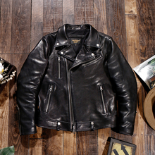Jacket Tanned-Sheep-Leather Motorcycle Lapel Vegetable Japanese Handsome Men's