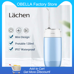 Lachen Mini Oral Irrigator USB Rechargeable Water Flosser Portable Dental Water Jet Waterproof Teeth Cleaner Travel Water Pick