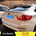 Для BMW X6 2008 2009 2010 2011 2012 2013 2014 задний багажник спойлер из углеродного волокна черный автомобиль украшение в виде хвостового крыла для X6
