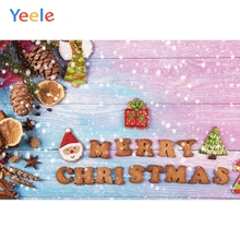 Yeele Christmas Photocall Biscuits Bokeh Snow Nuts Photography Backdrops Personalized Photographic Backgrounds For Photo Studio