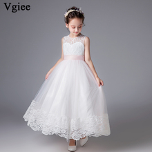 Vgiee Little Girls Clothing for 4 To 10 Years Kids Dresses Ankle-Length Party and Wedding Baby Girl Clothes CC589