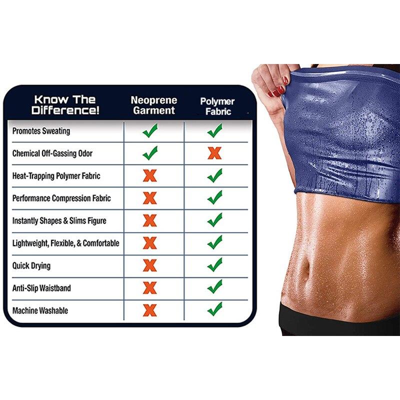 Body Shaper Sauna Vest Gym Top Sweat Shapers Men instantly Hot Sauna Effect Slims Fitness Vests Women Workout Sport Shirt Corset 4