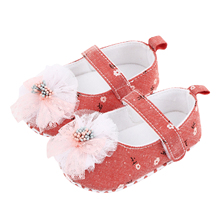 Flats Dress-Shoes Infant Princess with Flower Bowknot Baby 0-18months Soft-Sole Non-Slip