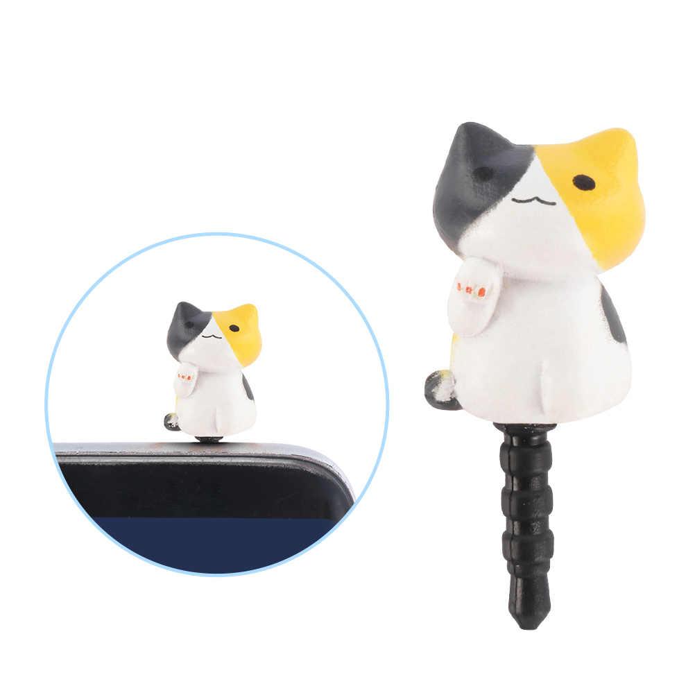 1pcs 3.5 มม.ปลั๊กน่ารักชีสแมวสิ่งสกปรกหูฟังแจ็คปลั๊กอะแดปเตอร์โทรศัพท์ Stopper สำหรับ iPhone 5 5S 5C