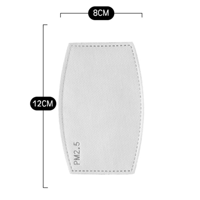 200PCS/SET 6 Layer PM2.5 Filter Activated Carbon Filter for Mouth Mask Dust Mask Filter Protective Filter Media Flu-proof Filter 5