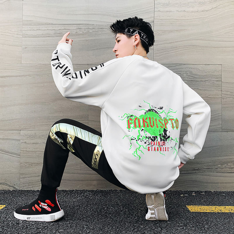 2019 Winter New Korean Version Of The Trend Of Men's Wild Students Bright Color Sports Loose Casual Suit