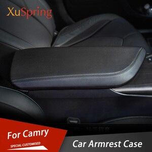 Image 1 - Auto Armlehne Konsole Pad Abdeckung Kissen Unterstützung Box Armlehne Top Matte Liner Styling für Toyota Camry 2017 2018 2019 2020 2021 8TH