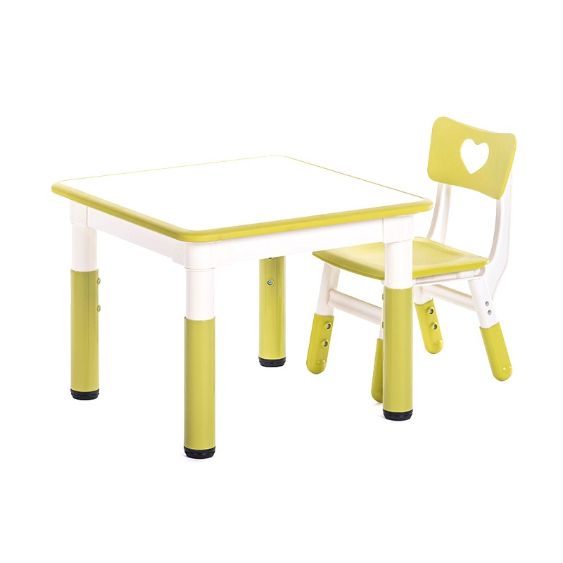 H1 Height Adjustable Children Table And Chair Set Kindergarten Non-slip Writing Desk Desktop Can Draw Kids Table And Chair