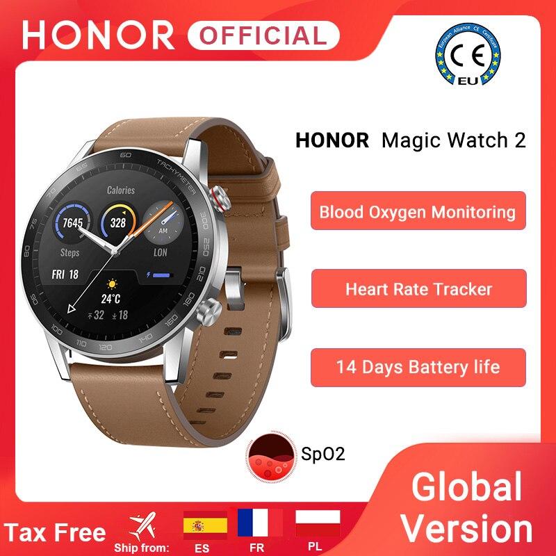 Глобальная версия Honor Magic Watch 2 Смарт-часы Bluetooth5.1 Смарт-часы с кислородом крови водонепроницаемые 14 дней сердце крыса для Android iOS