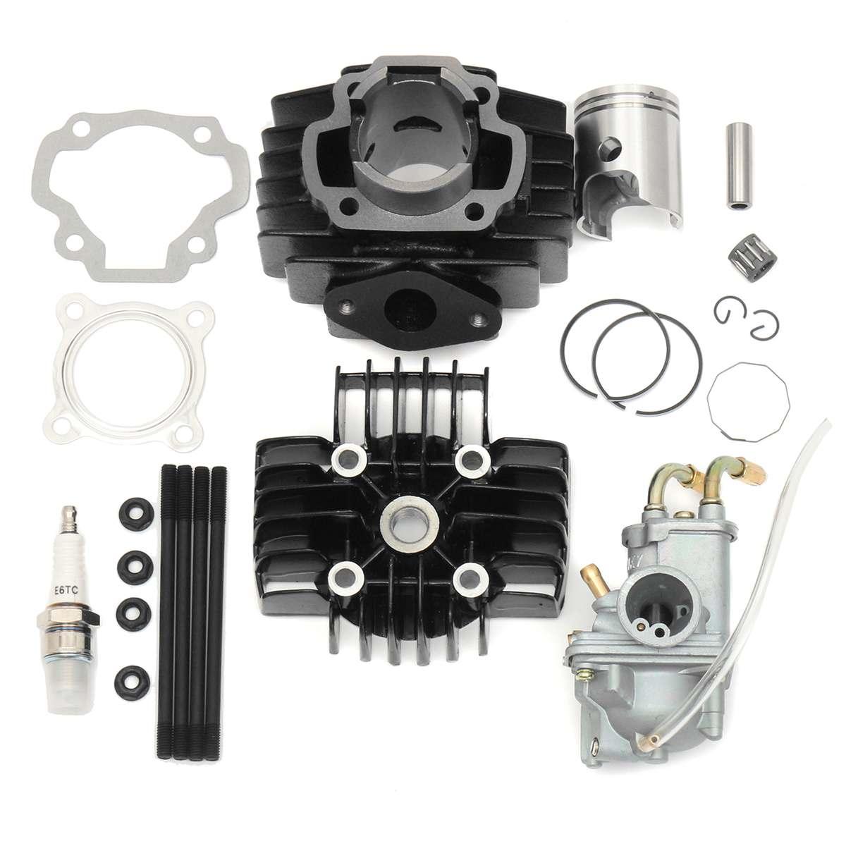 Carburetor Cylinder Piston Ring Gasket Top End Kit For Yamaha PW 50 PW50 1981- 2009
