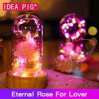 Für immer Rose Real Blume Nicht-Künstliche Blume Hause Dekoration Festliche Erhalten Nicht-Gefälschte Blume Valentinstag Geschenk für Liebhaber