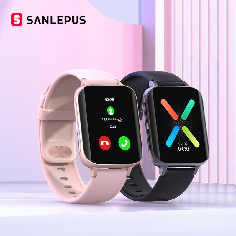 Новинка 2021, Смарт-часы SANLEPUS с Bluetooth для звонков для мужчин и женщин, водонепроницаемые Смарт-часы, MP3-плеер для OPPO, Android, Apple, Xiaomi, Huawei